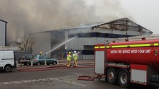 Norfolk firefighters dealing with a blaze on the Rackheath Industrial Estate