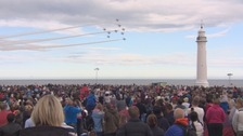 The Red Arrows in action at the Sunderland Airshow.