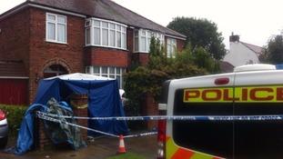 Murder scene in York