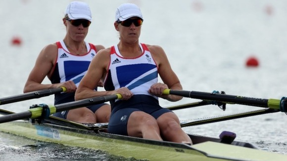 Katherine Grainger  and Anna Watkins (left) raced home for gold.