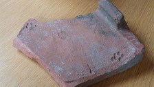 Roman tile with cat print