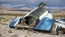 Wreckage of the Virgin Galactic SpaceShipTwo after the crash in October.