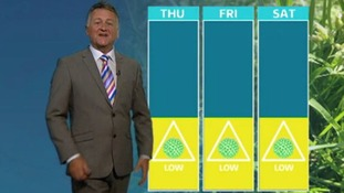 Latest pollen count with Jon Mitchell