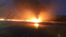 2013 wildfire at Siddick Ponds