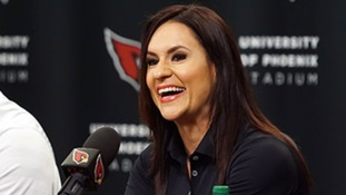 """I want little girls everywhere knowing they can do anything, even play football,"" says NFL's first female coach"