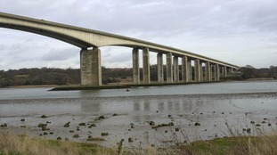 A man's body has been recovered from the river near the Orwell Bridge in Suffolk.