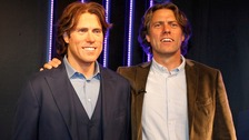 Comedian John Bishop with his wax figure which was unveiled at Madame Tussauds in Blackpool.