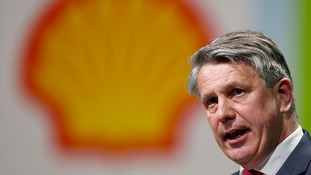 "Shell chief executive Ben van Beurden said the firm was planning for a ""prolonged downturn"" in oil prices"