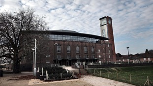 A general view of the newly rebuilt Royal Shakespeare Theatre in Stratford on Avon.