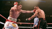 Anthony Crolla in action against Darleys Perez.