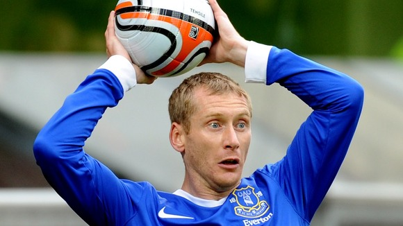 Ten years gone: Tony Hibbert has been at Everton for a decade.