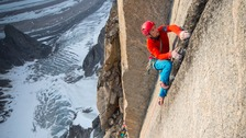 Leo leads a pitch on the Mirror Wall.