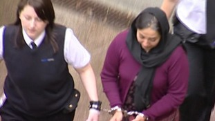 Shafilea Ahmed's mother Farzana leaves court earlier today