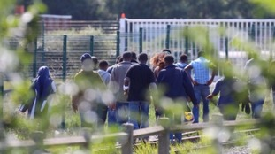 Hundreds of migrants at a time are trying to break into trucks at the Eurotunnel terminal every night