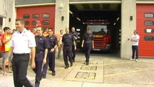 Essex firefighters walking our on a previous strike.