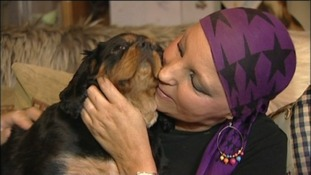 Sharon Rawlinson with her dog, Penny