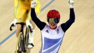 Pendleton celebrates her victory