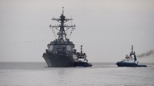 Navy rocket destroyer USS Jason Dunham has arrived in Plymouth.