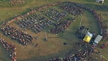 One thousand musicians in the Italian city of Cesena performed Foo Fighters song Learn to Fly in a bid to get the band to perform there