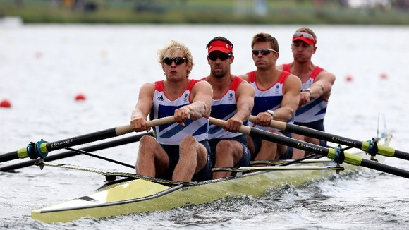 Great Britain's Men's Four of Andrew Triggs Hodge, Tom James, Pete Reed and Alex Gregory