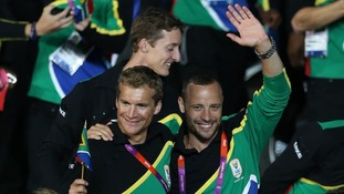 South Africa's Pistorius (right) is the Olympic Games' first ever double-amputee competitor.