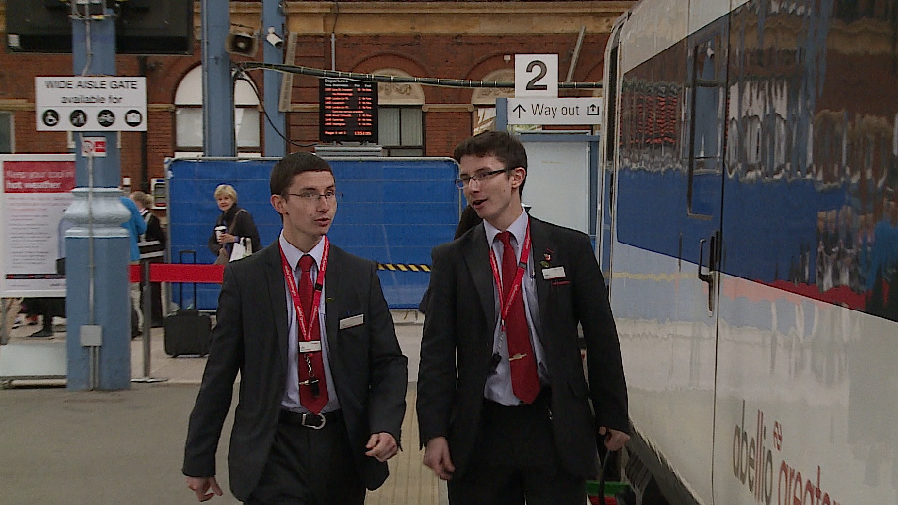 Seeing double Norwich twins take up the same career as train conductors Anglia ITV News