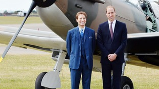 American philanthropist Thomas Kaplan with the Duke of Cambridge, after he donated to the Imperial War Museum in Duxford