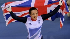 Victoria Pendleton wins cycling gold medal in the women&#x27;s keirin.