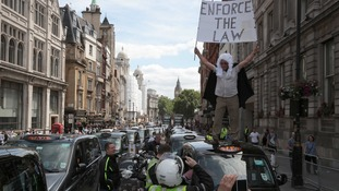 Last summer thousands of taxi drivers brought London to a standstill in protest at the app.