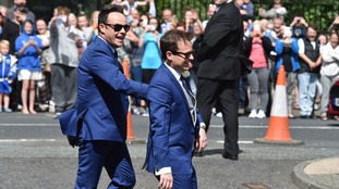 Ant McPartlin (left) with groom Declan Donnelly