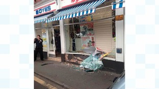 Damage to Boyes department store in Whitby