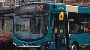Arriva bus which crashed into shop