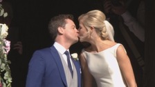 Dec kisses his new bride
