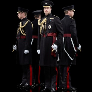 Prince William, Colonel of the Irish Guards, was photographed in 2012.