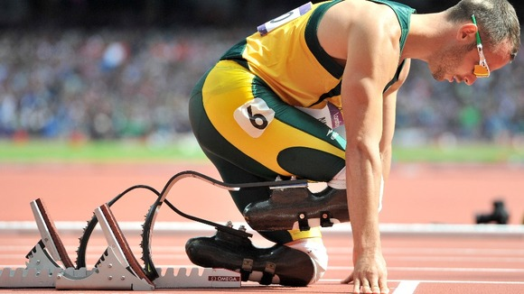 South Africas Blade Runner Oscar Pistorius.