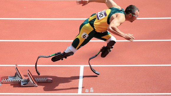 South Africa&#x27;s Oscar Pistorius in the Men&#x27;s 400m Heats 