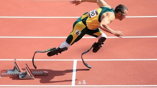 South Africa's Oscar Pistorius in the Men's 400m Heats