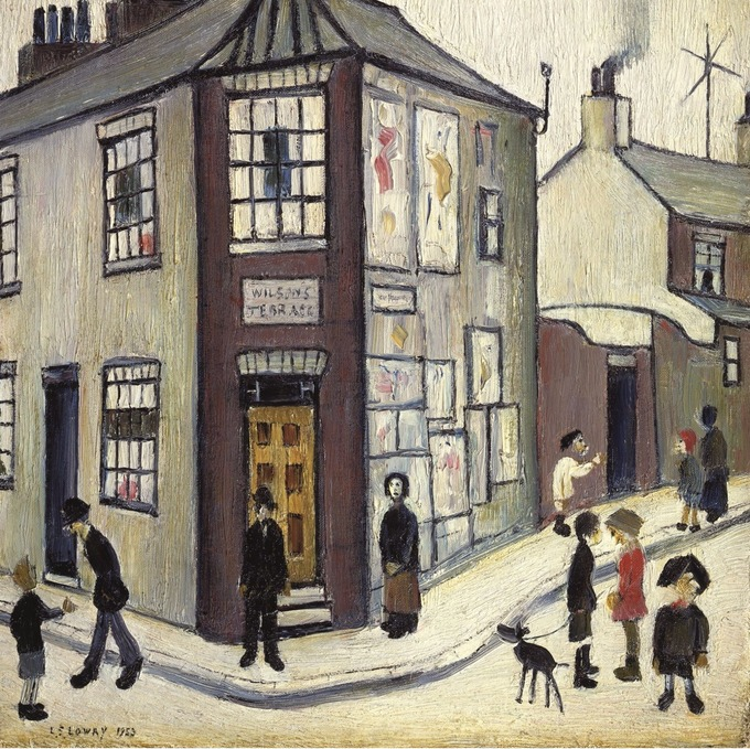 Unseen Lowry painting to go on show to the public for the first ...