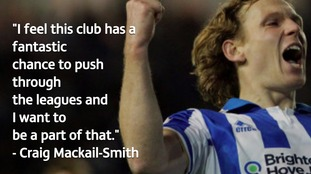 Craig Mackail-Smith is targeting promotion.