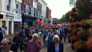 March through Redditch town