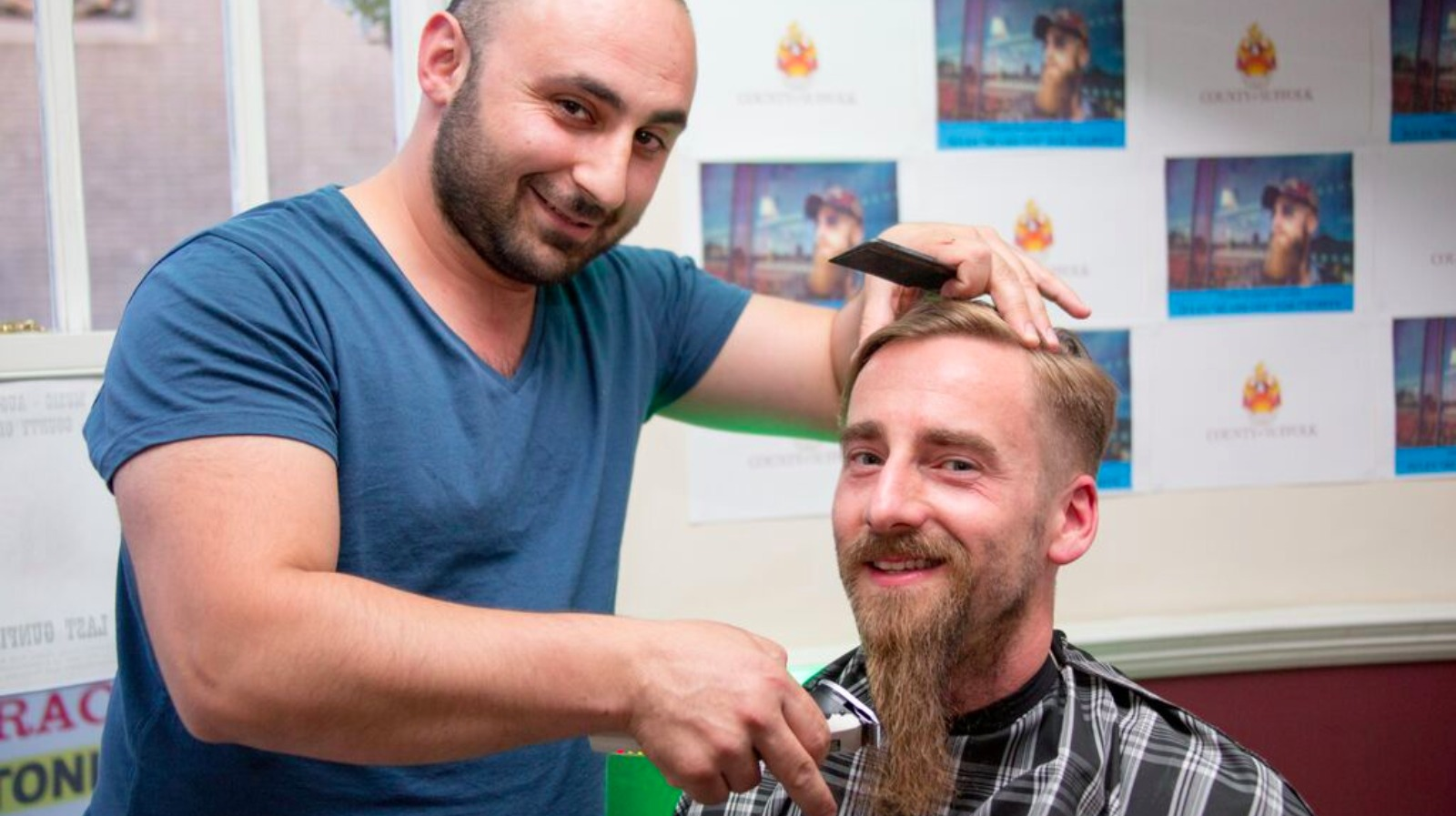 ipswich photographer shaves off beard in memory of friend. Black Bedroom Furniture Sets. Home Design Ideas