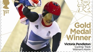 Victoria Pendleton's gold medal win marked with special stamp