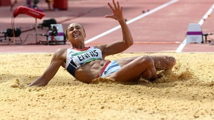 Jessica Ennis in the Long Jump