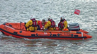 RNLI volunteers in Weston-super-Mare rescue a stranded yacht crew.