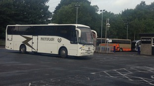 Replacement buses are operating from the station.