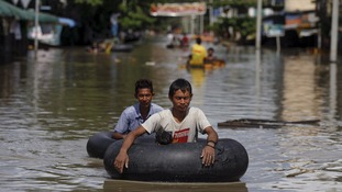 At least 27 feared dead in Myanmar floods as rescue workers race to aid victims