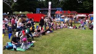 Children join in medieval activities