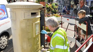 Gold postbox marks Staffordshire Olympic success