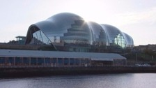 The Sage Gateshead glinting in the sun
