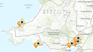 Map of flood alerts